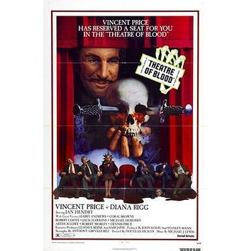 Theatre Of Blood Movie poster Metal Sign Wall Art 8in x 12in