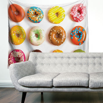 """Donut Love"" Colorful Deserts Wall Tapestry"