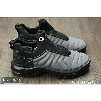 Nike Air Max Plus Slip SP TN retro cushioning running shoes F-HAOXIE-ADXJ Gray + black
