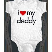 i love my daddy cute baby one piece - Infant Clothing (Newborn, Banana)