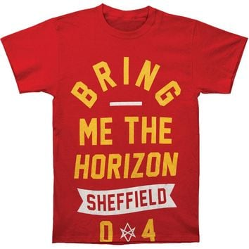 Bring Me The Horizon Men's  Big Text T-shirt Red Rockabilia