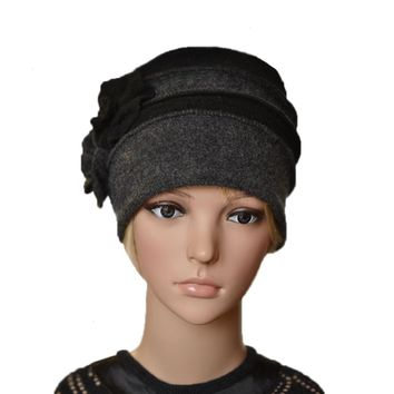 Winter Women's Felted Hat - Felt Wool Warm Ladies Beanie