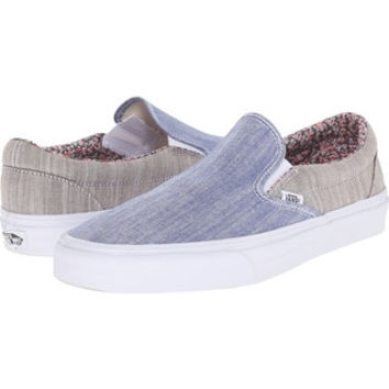 Vans Classic Slip On(Floral Chambray)Blue/Wht