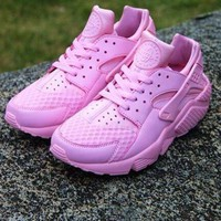 PEAP Nike Air Huarache 1 Rainbow Ultra Breathe Women Pink Running Sport Casual Shoes Sneakers - 01