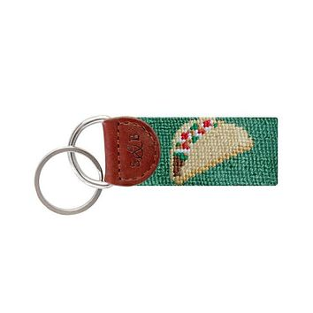 Tex Mex Needlepoint Key Fob in Sage by Smathers & Branson