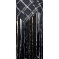 Proenza Schouler - Fringed plaid basketweave canvas maxi skirt