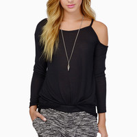 One Shoulder Cutout Sleeves Loose  Top