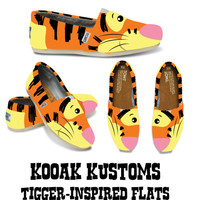 KOOAK Kustoms Disney Tigger-Inspired Toms Flats