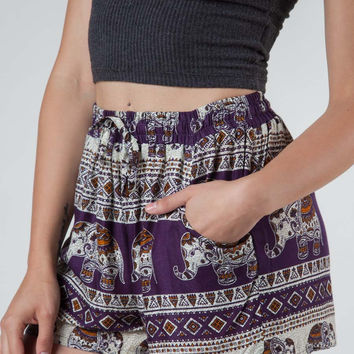 Saza Purple Shorts