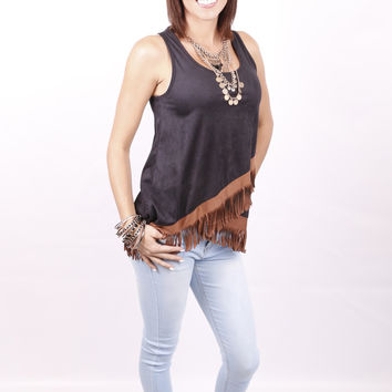 Fringe Affliction Top: Black