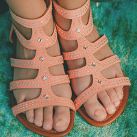 Tag You're It Sandal - Peach