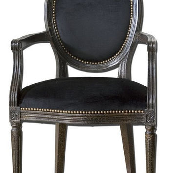 Uttermost Cecily Black Occasional Armchair - 23078