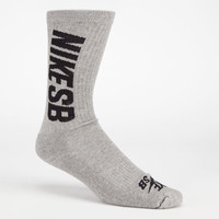 Nike Sb 3 Pack Skate Crew Socks Grey One Size For Men 23149611501