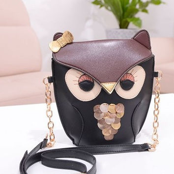 Cartoons Lovely Vintage Owl Bags [6581081735]
