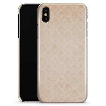Faded Coral Grunge Royal Pattern - iPhone X Clipit Case