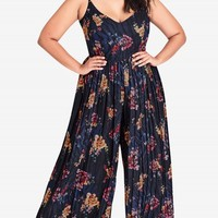 Shop Women's Plus Size Desert Floral Jumpsuit | City Chic USA