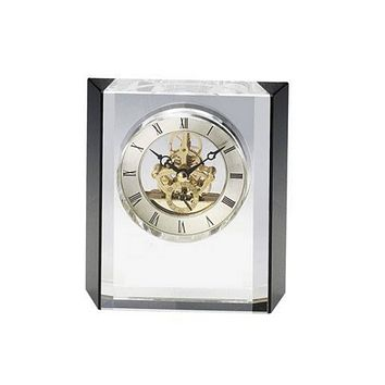 Personalized Free Engraving Crystal Desk Trophy Clock