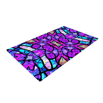 "Art Love Passion ""Kaleidoscope Dream"" Pink Purple Woven Area Rug"