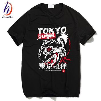 Tokyo Ghoul Anime Printed T shirt Men Japanese Manga Ken Kaneki T-shirt 2017 Fashion Harajuku Hip Hop Swag Cheap Clothing,HCT021