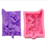 DIY Soap Mold Cupcake Jelly Girl Smell Flower 3D Cake Mold Fondant Silicone Chocolate Moulds
