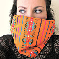 Tribal Aztec Fabric Cowl Infinity Scarf, Reversible scarf, Gift for Her