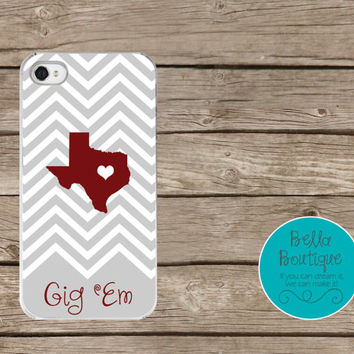 Iphone 5S case, Personalized Iphone 5s case. Gig Em Aggies! Texas A and M Aggies Monogram, Love Texas A&M Aggies