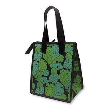 """Monstera Black"" Insulated Cooler Bag, Small"