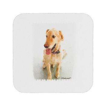 Golden Retriever Watercolor Coaster