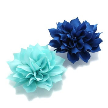 Medium Petal Blossom Hair Flower Clip Pair