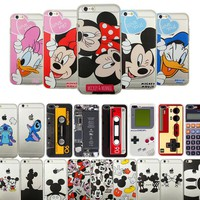 Cartoon Mickey Minnie Mouse Kiss Donald Duck Soft TPU Silicon Clear Case Coque For Apple iPhone 6 6s 6Plus 5 5s Se 7 Cases Cover