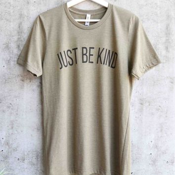 distracted - just be kind unisex graphic tee - olive