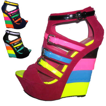 Maya Multi Colored Wedges