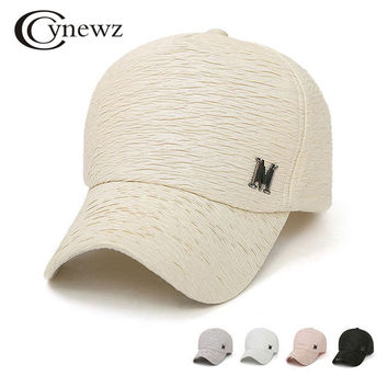 New 2017 Branded Baseball Cap Women Snapback Caps Hip Hop Wrinkle Design Solid Casual Fashion Caps Hats Summer Cool Sun Hat