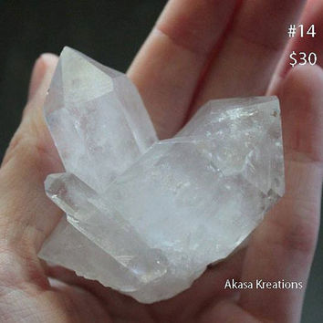 Twin Raw Clear Quartz Cluster Crystal Healing Mineral Specimen Metaphysical Supply Spiritual Wiccan  Amplification Focus Cleansing