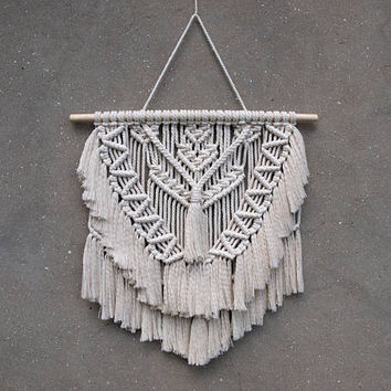 Macrame fiber art Large macrame wall hanging Boho wedding gift Bohemian housewarming gift for her Birthday gift for wife Gift for hippie