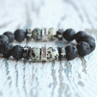 bracelet for men birthday gift black bracelet dark bracelet brother gift elastic bracelet lava beaded men bracelet tribal jewellery mens