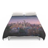 Society6 SEATTLE SUNSET Duvet Cover