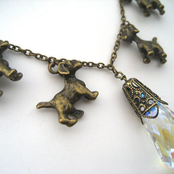 Dog Lover Necklace - Crystal Necklace - Dog Jewelry