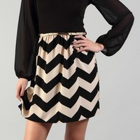 Black & Chevron Dress
