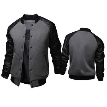 Mens Casual Varsity Jacket