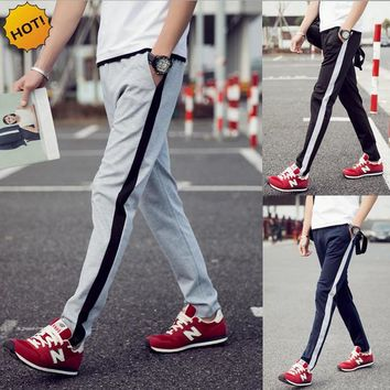 HOT 2017 Spring autumn Slim Fit Joggers Track Pants Men Students Elastic Waist Harem Pants Traning Trousers Plus Size 5XL