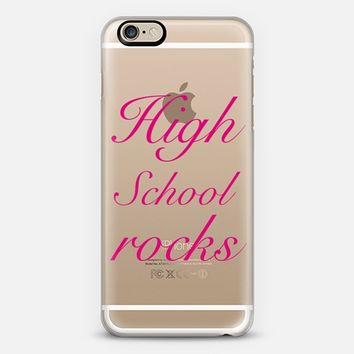 High School Rocks in pink - Back to school iPhone 6 case by Yasmina Baggili | Casetify