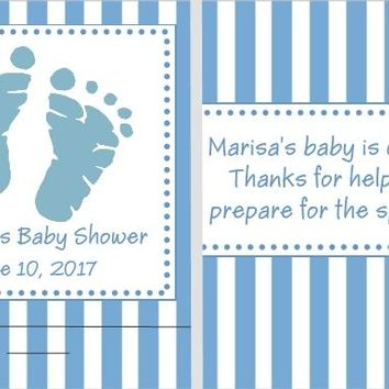 8 Blue Baby Feet Baby Shower Nail File Favors