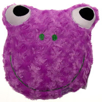"""Purple Frog Pillow Color LED Light Up Flash Plush 9"""" Microbeads Home Bed Decor"""