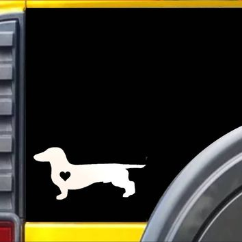 Dachshund Little Heart Decal Sticker *J619*