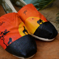 Lion King Custom TOMS Shoes by ArtisticSoles on Etsy