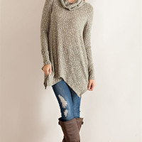 Cowl Neck Tunic - Olive