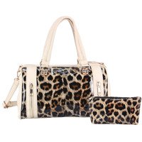 Leopard Print Vegan Leather Perfect Purse