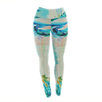 "Ebi Emporium ""Poseidons Wrath"" Yoga Leggings"