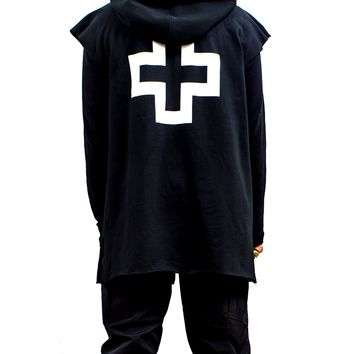 01 Sleeveless Lite 2-Way Zip Hoodie